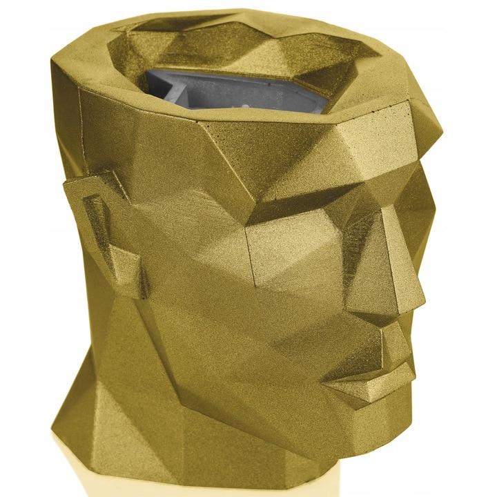 Świeca betonowa wymienna Candellana Lizzio głowa Apollo XL Classic Gold 160x170x175 mm