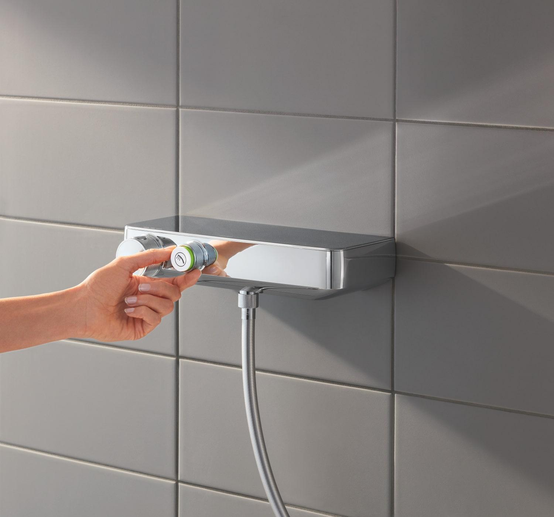 Zdjęcie Termostatyczna bateria prysznicowa z zestawem prysznicowym Grohe Grohtherm SmartControl chrom 34720000