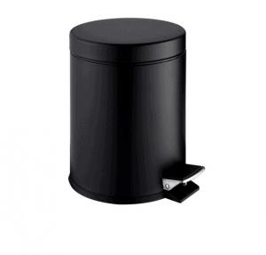 Kosz na śmieci pedałowy Stella STANDARD okrągły 5L Stella czarny mat 20.005-MB