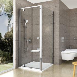 Drzwi prysznicowe Ravak Pivot PDOP1 połysk +transparent 80 cm 03G40C00Z1