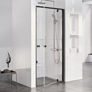 Drzwi prysznicowe Ravak Pivot PDOP1 black+transparent 90 cm 03G70300Z1