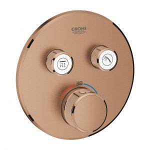 GROHE Grohtherm SmartControl - podtynkowa bateria termostatyczna do obsługi dwóch wyjść wody brushed warm sunset 29119DL0