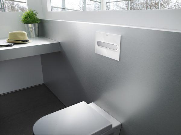 Zdjęcie Roca PL2 – przycisk podwójny spłukujący do WC biały A890196000