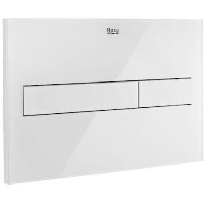 Roca PL7 - przycisk podwójny spłukujący do WC biały mat / szkło połysk A890188309