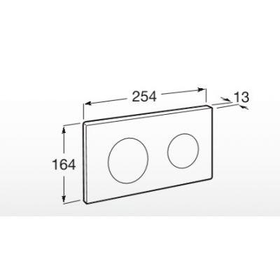 Zdjęcie Roca PL10 – przycisk podwójny spłukujący do WC chrom A890189001