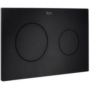 Roca PL10 - przycisk podwójny spłukujący do WC czarny mat A890189206