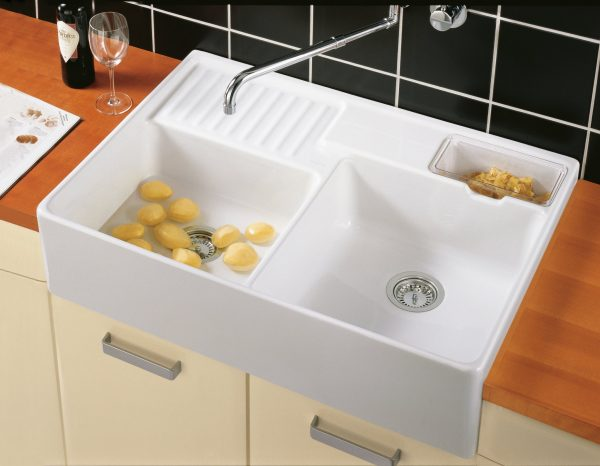 Zdjęcie Zlewozmywak ceramiczny dwukomorowy Villeroy & Boch Double-bowl sink biały 895 x 220 x 630 mm 632391R1