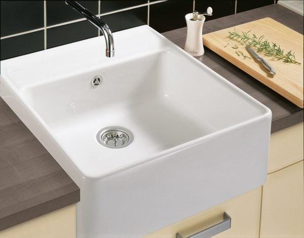 Zdjęcie Zlewozmywak ceramiczny jednokomorowy Villeroy & Boch Single-bowl Sink weiss alpin biały 595 x 220 x 630 mm 632061R1