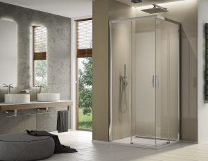 MEGA WYPRZEDAŻ! Drzwi prysznicowe SanSwissTOP-LINE S PRAWE 90x200 TLSD0805007 @ ^