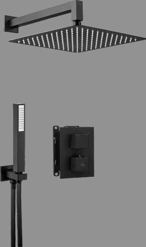 Deante Box Komplet z boxem podtynkowym termostatycznym kwadratowy Nero BXYZNEAT