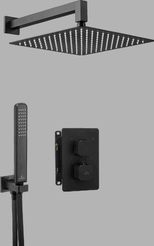 Deante Box Komplet z boxem podtynkowym termostatyczny zaokrąglony Nero BXYZNECT