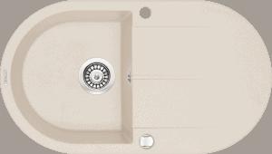 Deante Piva Zlewozmywak 1-komorowy okrągły z ociekaczem - beż ZQI_511B