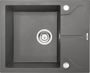 Deante Andante Flush Zlewozmywak 1-komorowy z ociekaczem - antracyt ZQN_T11F