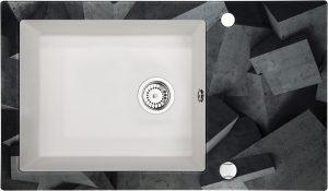 Deante Capella Zlewozmywak szklano-granitowy 1-komorowy z ociekaczem ZSC_AB2C
