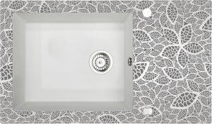 Deante Capella Zlewozmywak szklano-granitowy 1-komorowy z ociekaczem ZSC_AN2C
