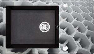 Deante Capella Zlewozmywak szklano-granitowy 1-komorowy z ociekaczem ZSC_GC2C