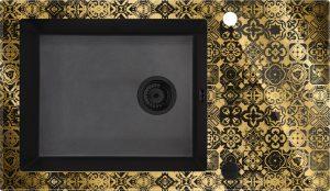 Deante Capella Zlewozmywak szklano-granitowy 1-komorowy z ociekaczem ZSC_GG2C