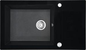 Deante Capella Zlewozmywak szklano-granitowy 1-komorowy z ociekaczem ZSC_GX2C