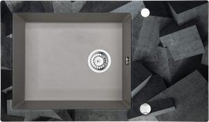 Deante Capella Zlewozmywak szklano-granitowy 1-komorowy z ociekaczem ZSC_SB2C