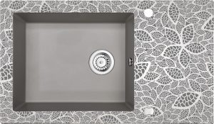 Deante Capella Zlewozmywak szklano-granitowy 1-komorowy z ociekaczem ZSC_SN2C
