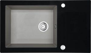 Deante Capella Zlewozmywak szklano-granitowy 1-komorowy z ociekaczem ZSC_SX2C