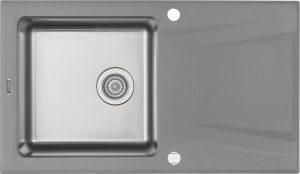 Deante Prime Zlewozmywak granitowo-stalowy 1-komorowy z ociekaczem - szary metalik ZSR_S113