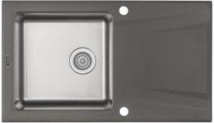 Deante Prime Zlewozmywak granitowo-stalowy 1-komorowy z ociekaczem - antracyt ZSR_T113