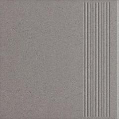 Płytka podłogowa Paradyż Bazo Grys Stopnica prosta Gres Sól-Pieprz Mat 30x30 cm