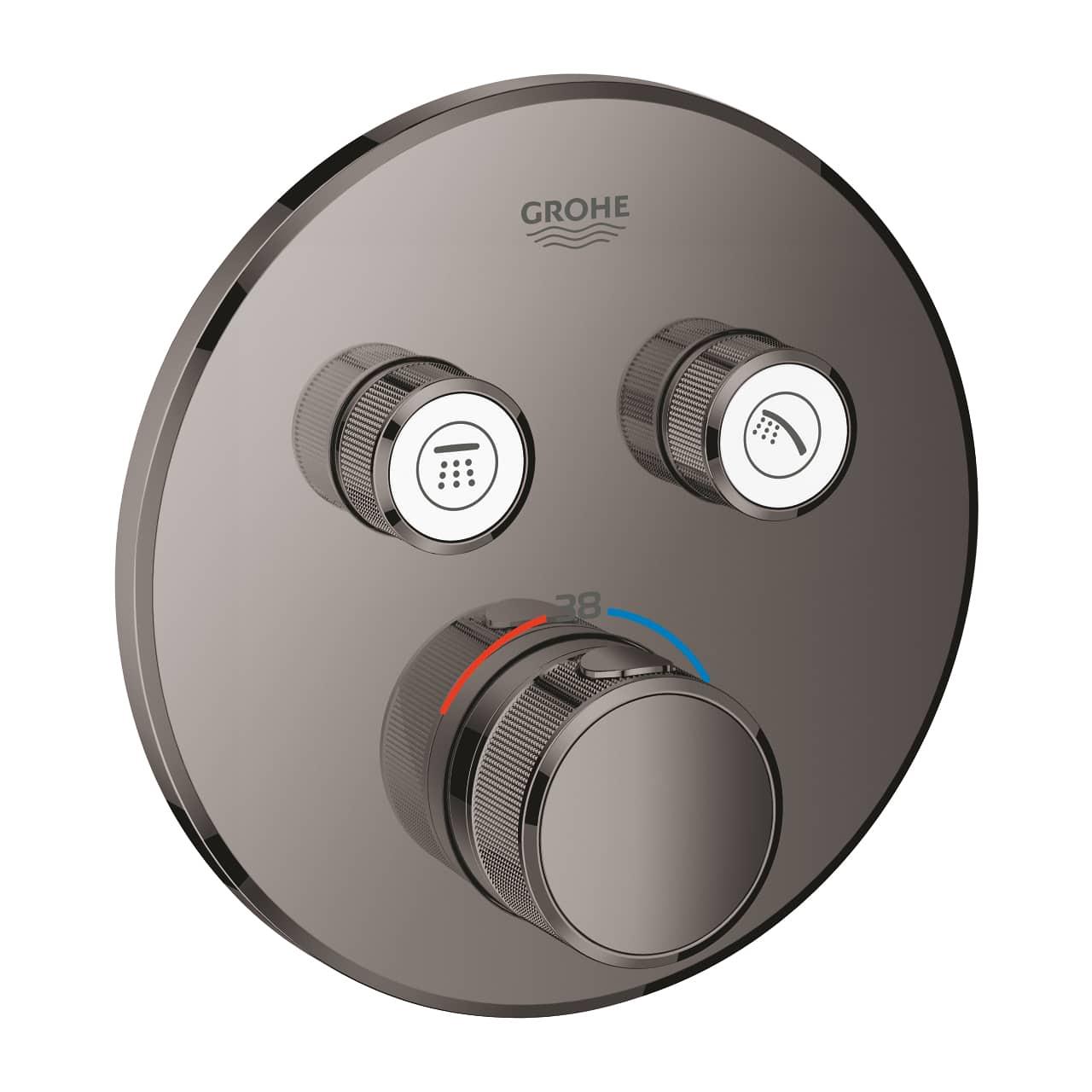 Bateria termostatyczna do obsługi dwóch wyjść wody Grohe Grohtherm SmartControl hard graphite 29119A00