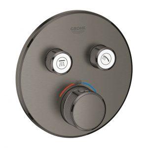 Bateria termostatyczna do obsługi dwóch wyjść wody Grohe Grohtherm SmartControl brushed hard graphite 29119AL0