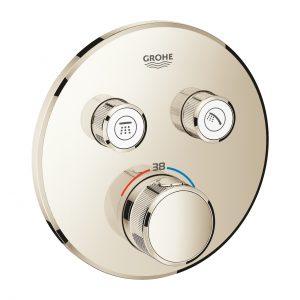 Bateria termostatyczna do obsługi dwóch wyjść wody Grohe Grohtherm SmartControl polished nickel 29119BE0