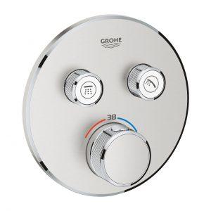 Bateria termostatyczna do obsługi dwóch wyjść wody Grohe Grohtherm SmartControl stal nierdzewna 29119DC0