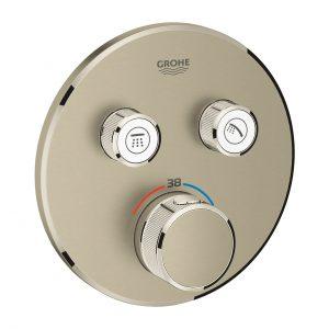 Bateria termostatyczna do obsługi dwóch wyjść wody Grohe Grohtherm SmartControl brushed nickel 29119EN0