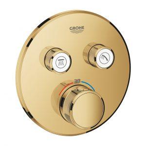 Bateria termostatyczna do obsługi dwóch wyjść wody Grohe Grohtherm SmartControl cool sunrise 29119GL0