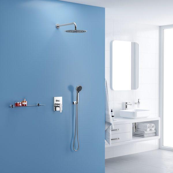 Zdjęcie Ramię prysznicowe ścienne Excellent 40 cm okrągłe Chrom AREX.3140CR