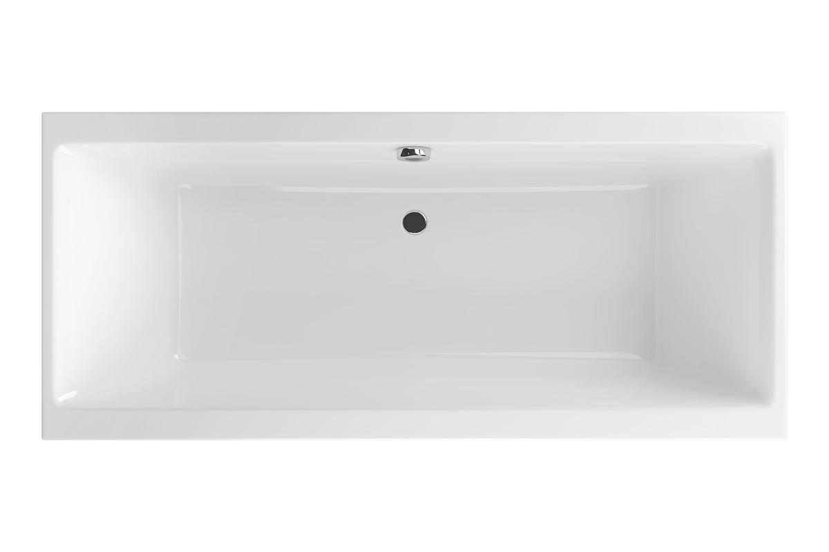 Wanna prostokątna Excellent Pryzmat 180x80,5 cm biały WAEX.PRY18WH