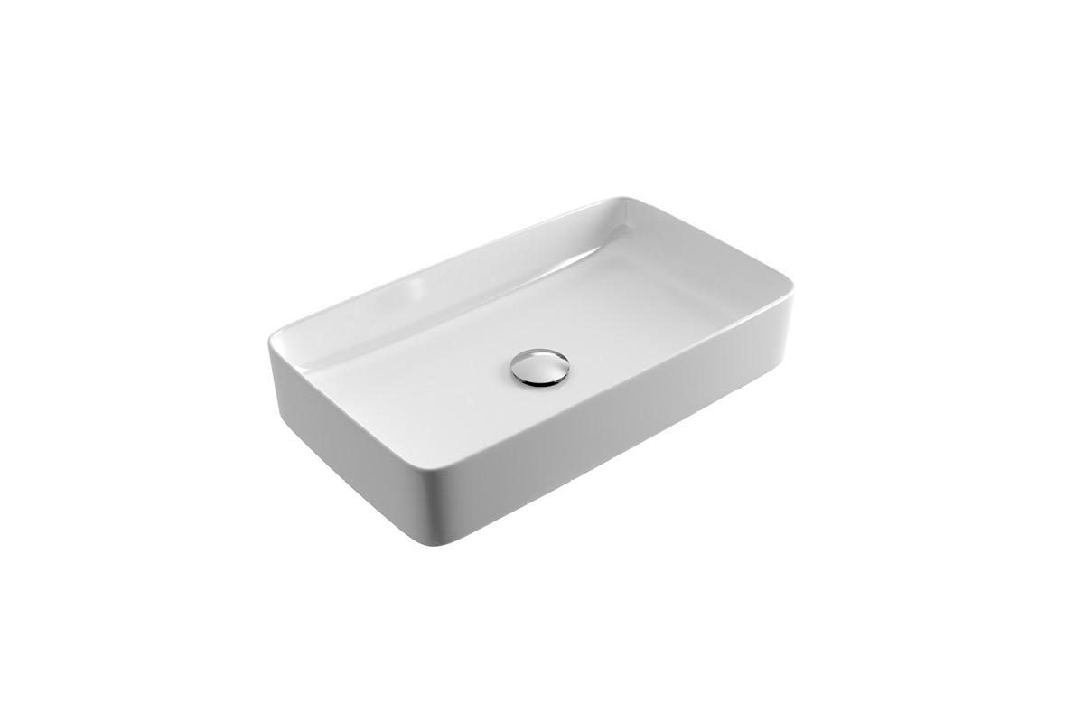 Umywalka nablatowa Actima - Excellent - Actima Cori 61x34,5 cm prostokątna biały CEAC.3301.610.WH