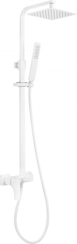 Zestaw prysznicowy z baterią mieszaczową i deszczownicą Deante Hiacynt Bianco NAC_A1QM