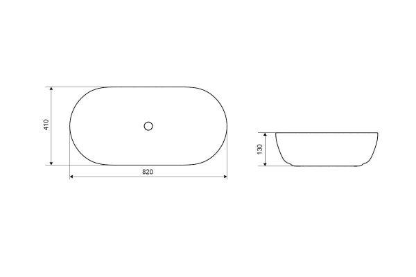 Zdjęcie Umywalka nablatowa Actima – Excellent Jima 82×41 cm owalna biały CEAC.2001.820.WH