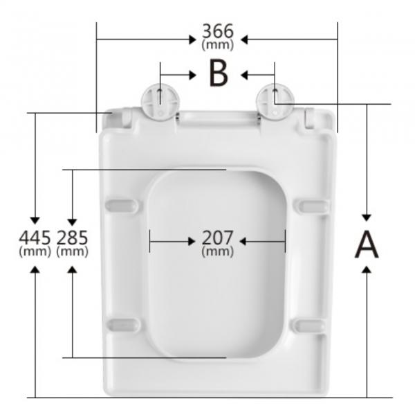 Zdjęcie Deska WC wolnoopadająca prostokątna do miski WC Duravit Vero