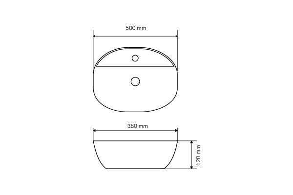 Zdjęcie Umywalka nablatowa Actima – Excellent Ronity 50×38 cm owalna biały CEAC.2901.500.WH