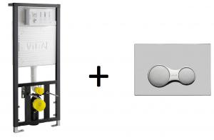 Stelaż podtynkowy Vitra + przycisk Chrom połysk 742-5800-01+740-0480
