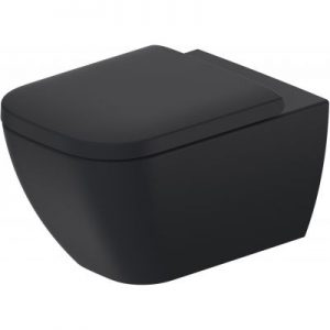 Miska WC wisząca Duravit Happy D.2 Rimless 54x36,5 cm antracyt mat 2222098900
