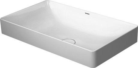 Umywalka nablatowa Duravit DuraSquare 60x34.5 cm prostokątna biała 2355600000