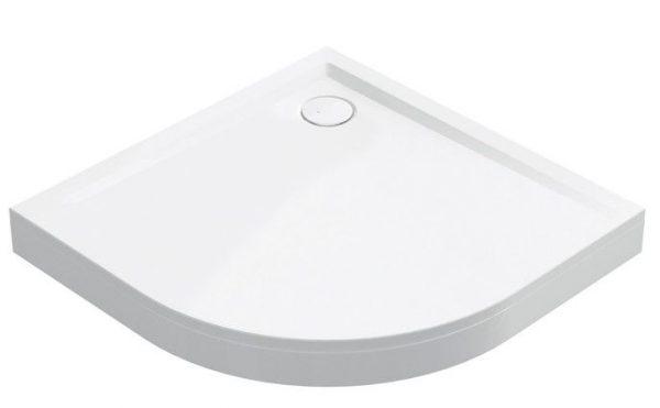 Zdjęcie Obudowa aluminiowa brodzika Sanplast półokrągły 90x90x20 cm biały 625404043001000