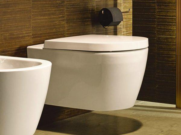 Zdjęcie Miska WC Duravit ME by Starck Rimless HygieneGlaze wisząca 57×37 biała 2529092000 + Deska WC Duravit ME by Starck 0020090000