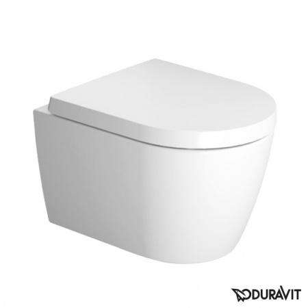 Miska WC Duravit ME by Starck Rimless HygieneGlaze wisząca 48x37 biała 2530092000 + Deska WC Duravit ME by Starck 0020190000