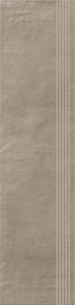 Stopnica prosta nacinana Paradyż Hybrid Stone Mocca 29,8x119,8 cm