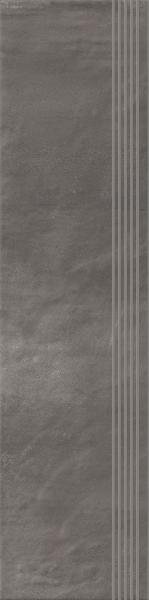 Stopnica prosta nacinana Paradyż Hybrid Stone Grafit 29,8x119,8 cm