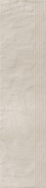 Stopnica prosta nacinana Paradyż Hybrid Stone Bianco 29,8x119,8 cm